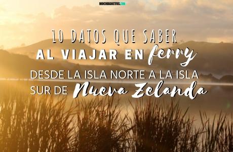 10 datos que saber al viajar en Ferry desde la isla norte a la isla sur de Nueva Zelanda