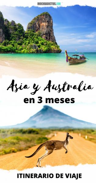 Asia y Australia en 3 meses, Itinerario de viaje.