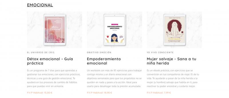 Bundle de Ebooks Emocional experiencias y opiniones