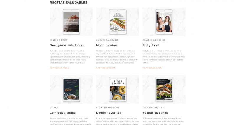 Bundle de Ebooks Recetass saludables experiencias
