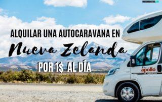 Cómo alquilar una autocaravana en Nueva Zelanda barato por 1$ al día.