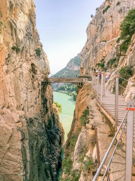 Puente colgante en el Caminito del Rey