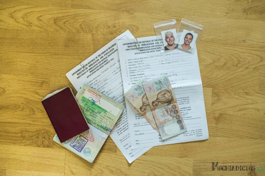 Como hacer visado de Mianmar en Bangkok
