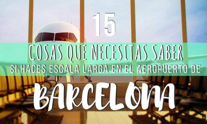 Consejos escala en aeropuerto de Barcelona
