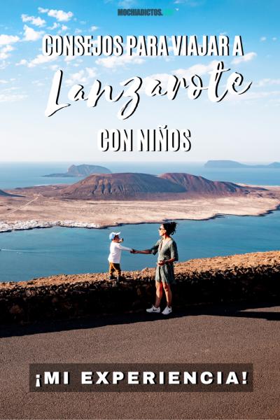 Consejos para viajar con niños a Lanzarote. Pinterest