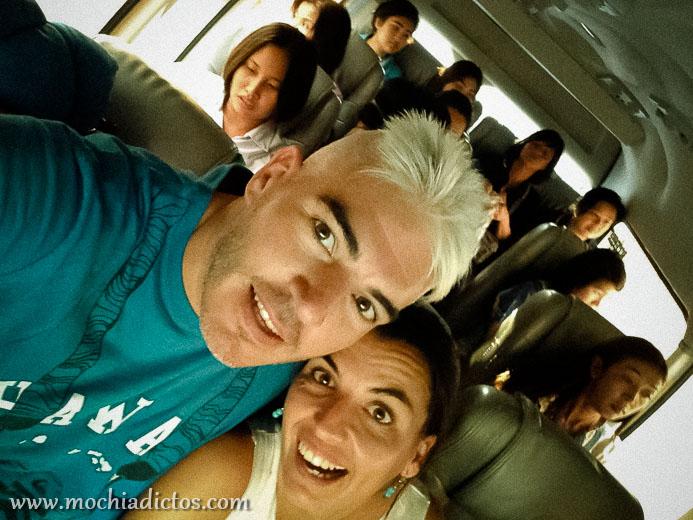 En la furgobus de camino a Ayutthaya