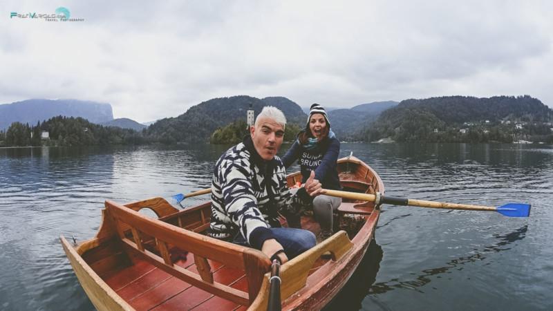 En nuestra barca alquilada en el Lago Bled (15€)