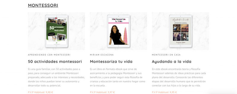 Experiencias Bundle de Ebooks Montessori