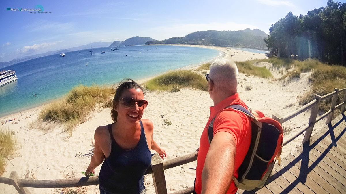 Playa de Rodas desde el camino del muelle