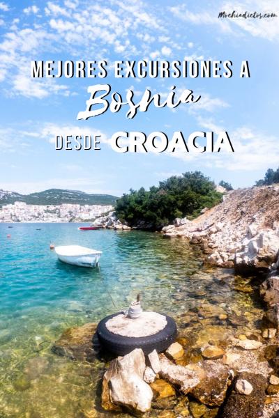 Hacer excursiones a Bosnia desde Croacia. Pinterest.