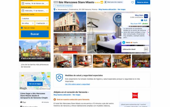 Hotel recomendado centro de Varsovia