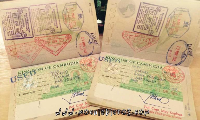 Visado de Camboya, entrando por tierra desde Tailandia.