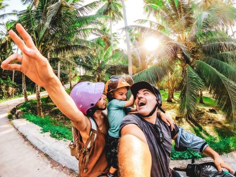 Koh Phangan con niños Transporte