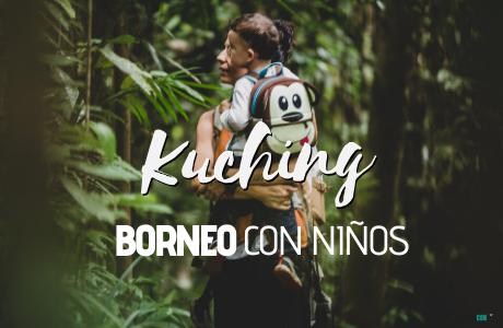 Kuching, Borneo con niños