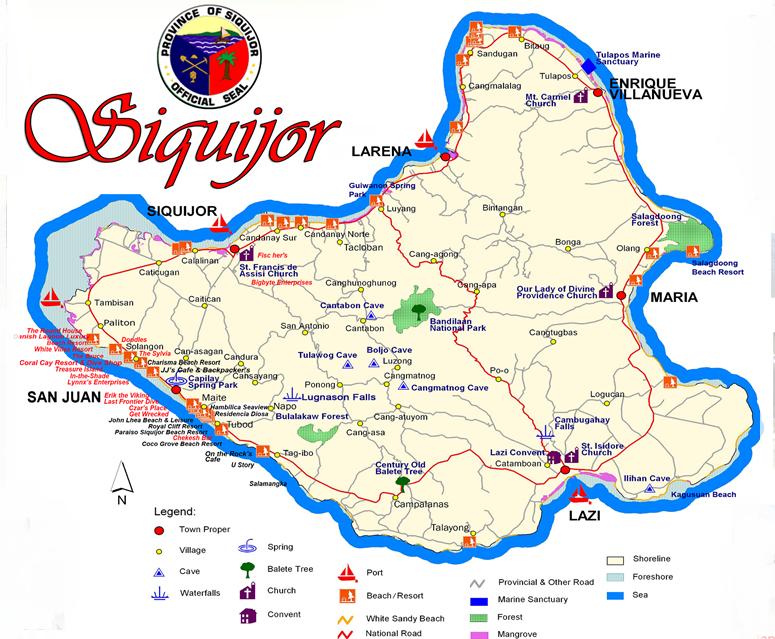 Mapa turistico Siquijor