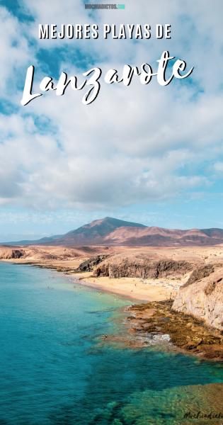 Mejores playas Lanzarote, Pinterest.