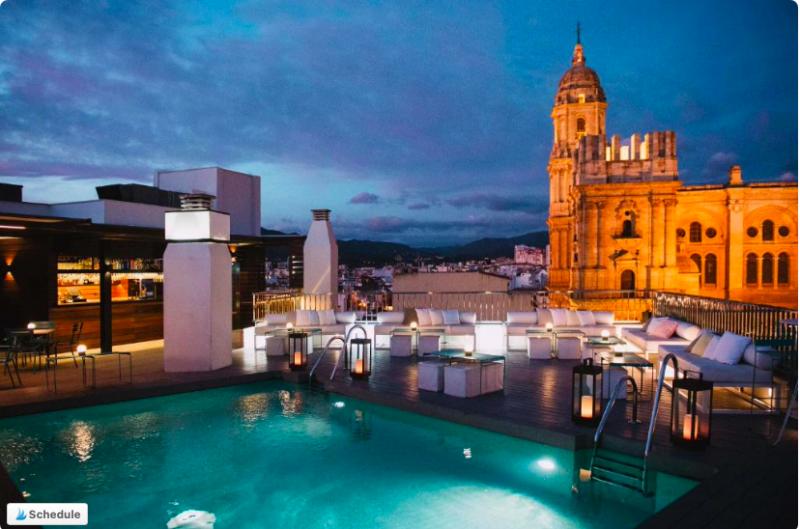 mejor hotel dónde alojarse en Málaga