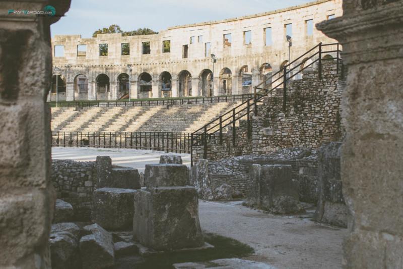 Anfiteatro romano en Pula