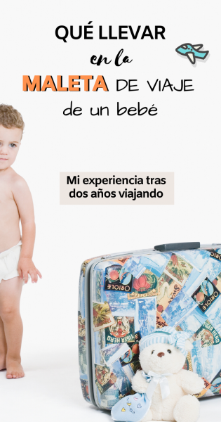 Que llevar en la maleta de viaje de un bebé, Pinterest.