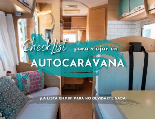 Qué llevar para viajar en Autocaravana o camper ¡La lista en PDF para no olvidarte nada!