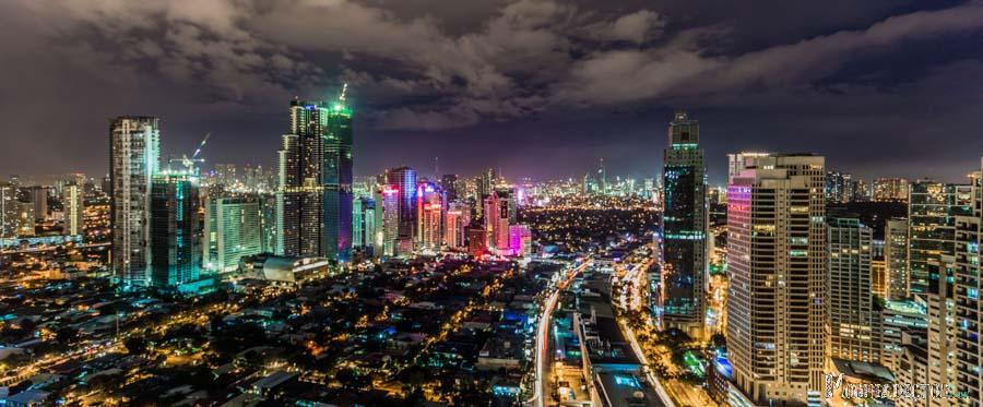 Vistas desde el apartamento en Makaty, Manila