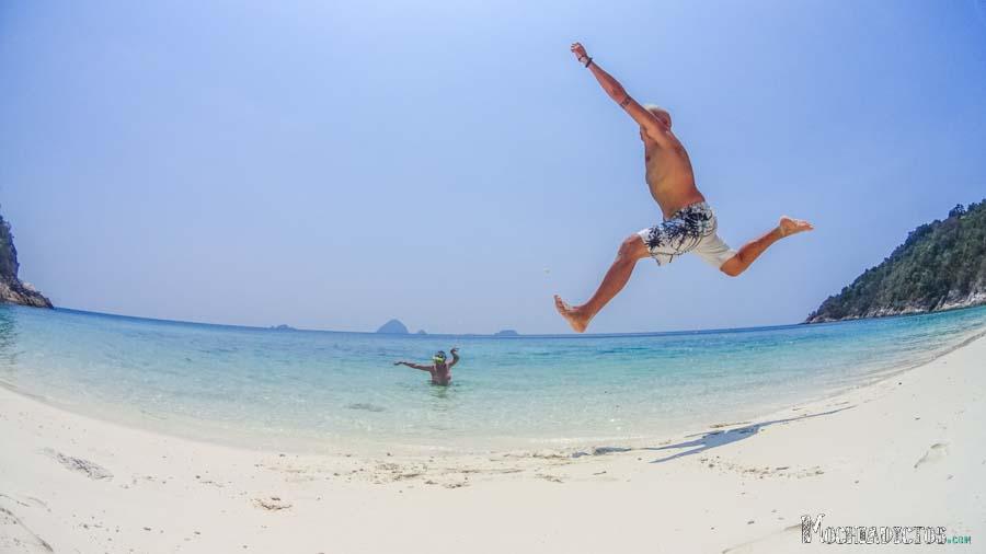 Flipando en Turtle Beach. Foto: Fran Vargas www.franvargas.com