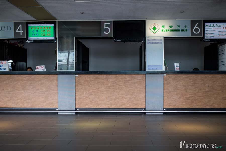 Oficinas para comprar el ticket de bus