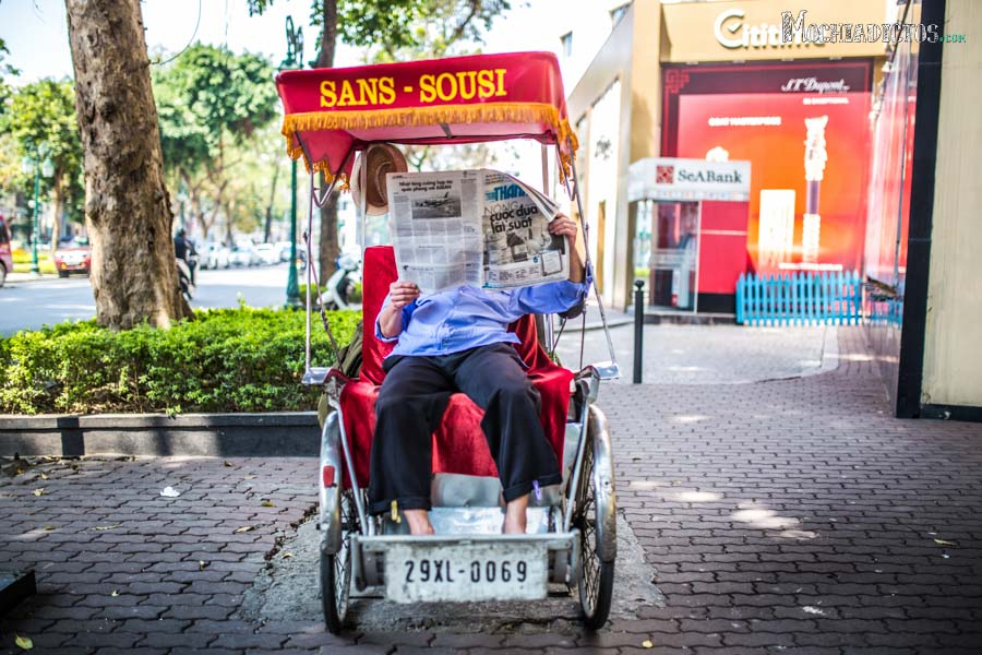 Bici taxi en Vietnam