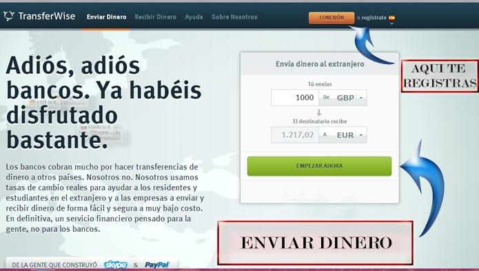 transferencia gratis con transferwise
