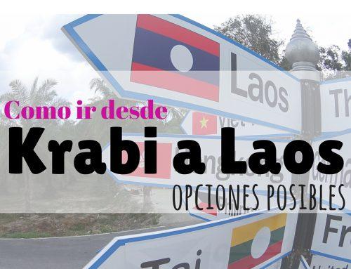 ¿Como ir desde Krabi a Laos?