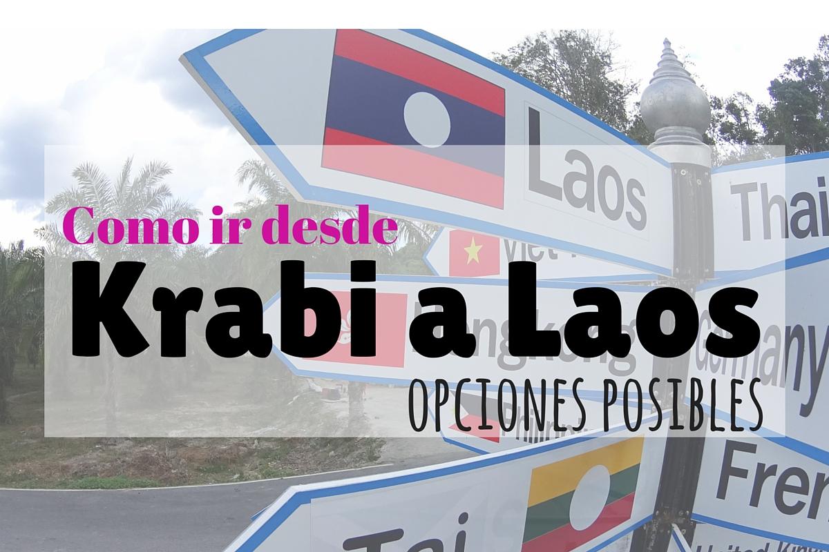 Como ir desde Krabi a Laos