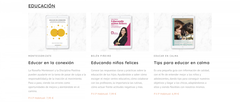 Ventajas Bundle de Ebooks Educación