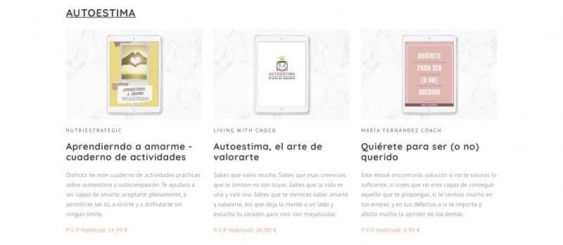 Ventajas e incovenientes Bundle de Ebooks Autoestima