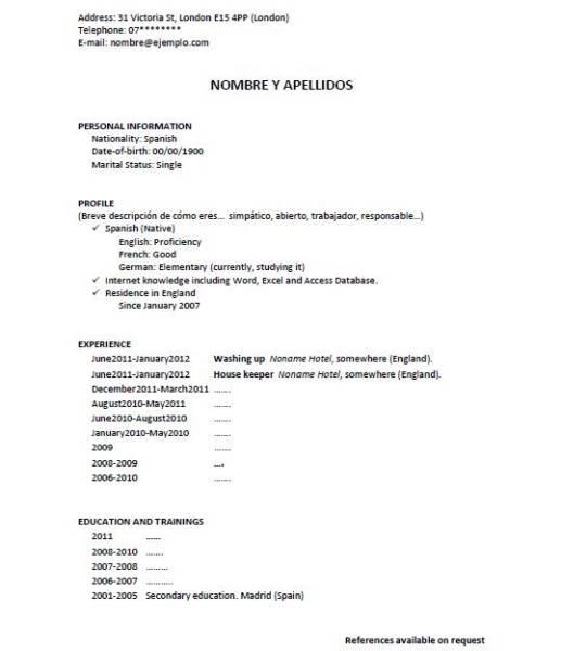 plantilla de curriculum britanico - 28 images - 1000 ideas about ...
