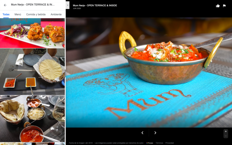 donde comer en Nerja comida india