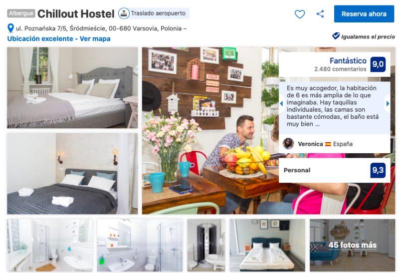 el mejor hostel donde alojarse en Varsovia centro