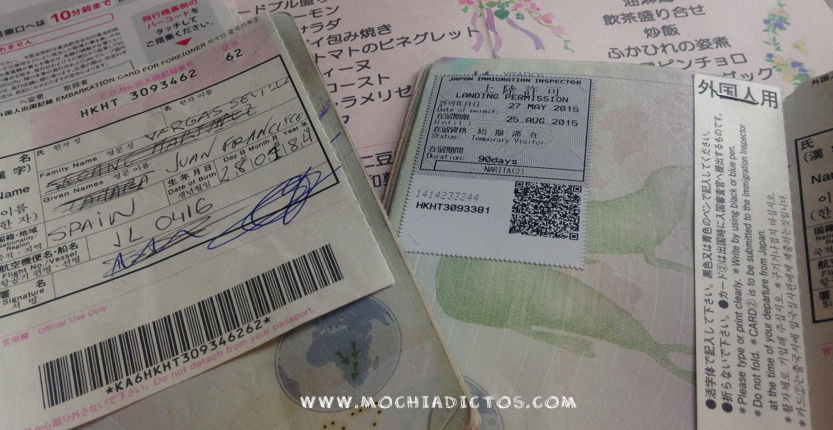 visado viajar japon