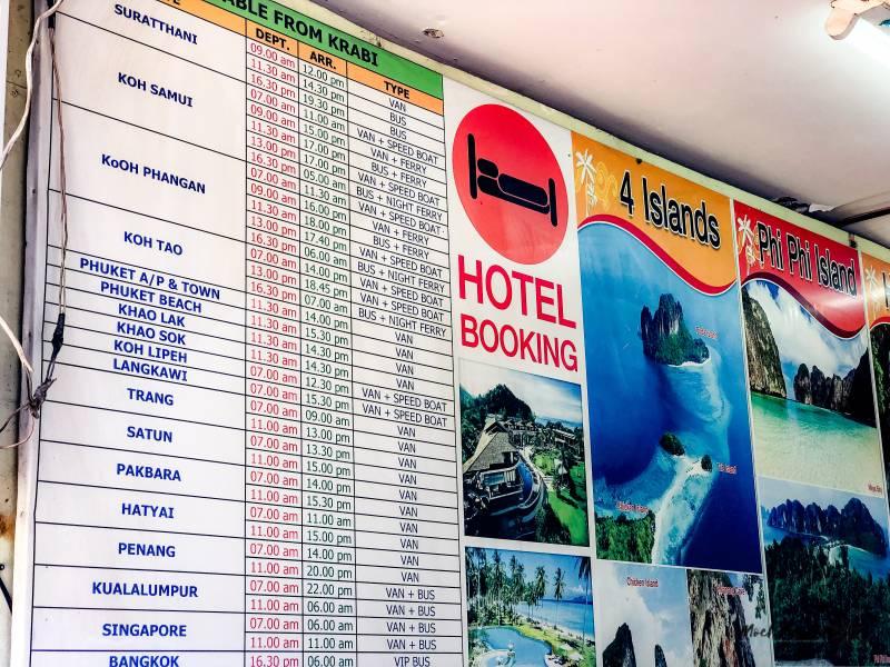 precios de excursiones en Ao nang