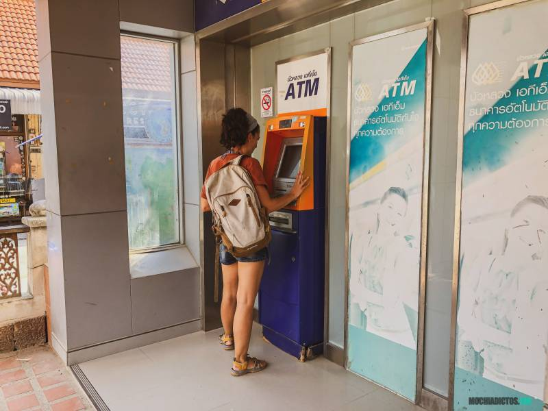 Cajeros en Tailandia
