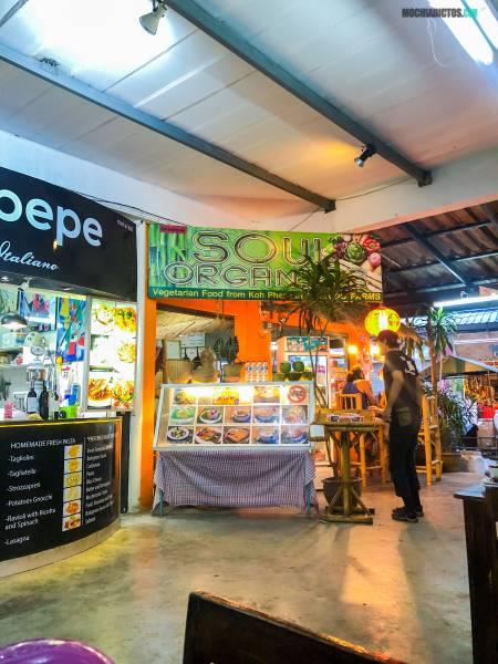 vegetariano en Koh Phangan