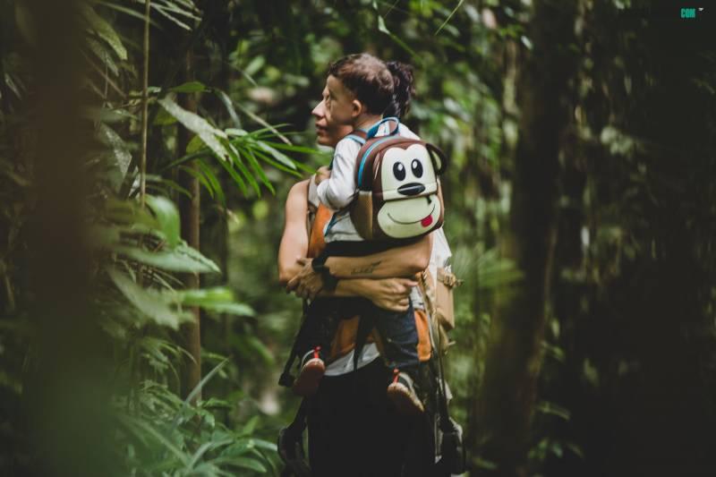 Ver Orangutanes en Borneo con niños
